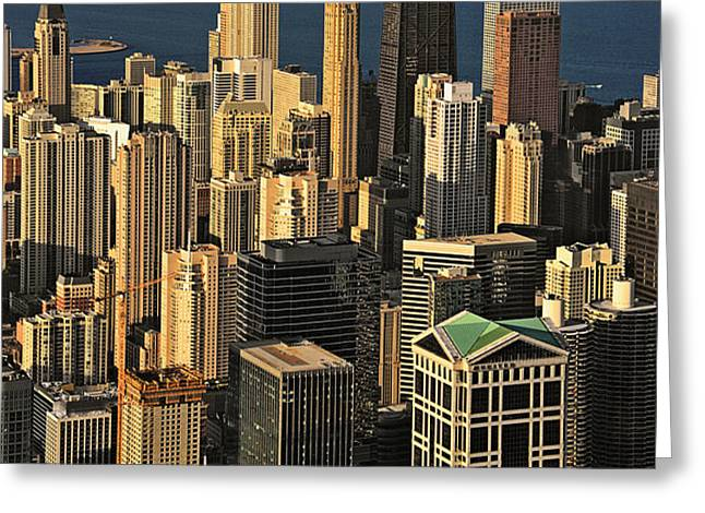 Through the haze Chicago shines Greeting Card by Christine Till