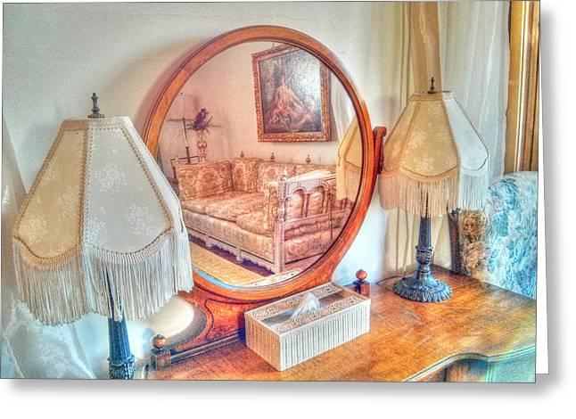 Phoenix Framed Prints Greeting Cards - Through the looking Glass Greeting Card by Wendy Elliott