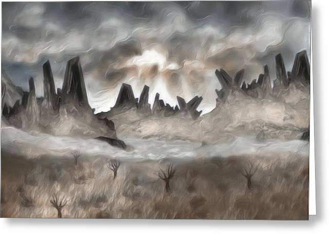 Experience Digital Art Greeting Cards - Through The Mist Greeting Card by Jack Zulli