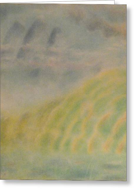 Mystical Landscape Pastels Greeting Cards - Through the Mist Greeting Card by Joel Rudin