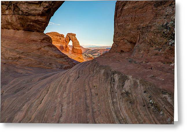 Through the Needle Greeting Card by Dustin  LeFevre