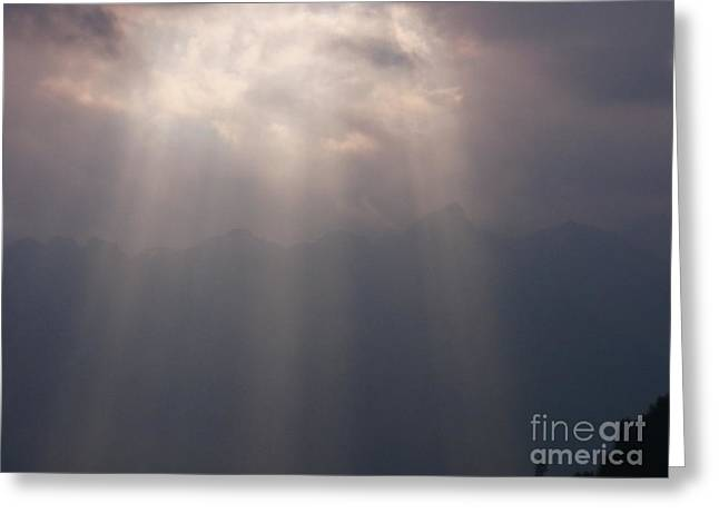 Through The Rays Of The Sun Greeting Card by Agnieszka Ledwon