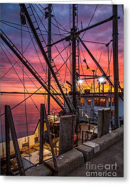 Pier Prints Greeting Cards - Through the Rigging Greeting Card by Benjamin Williamson
