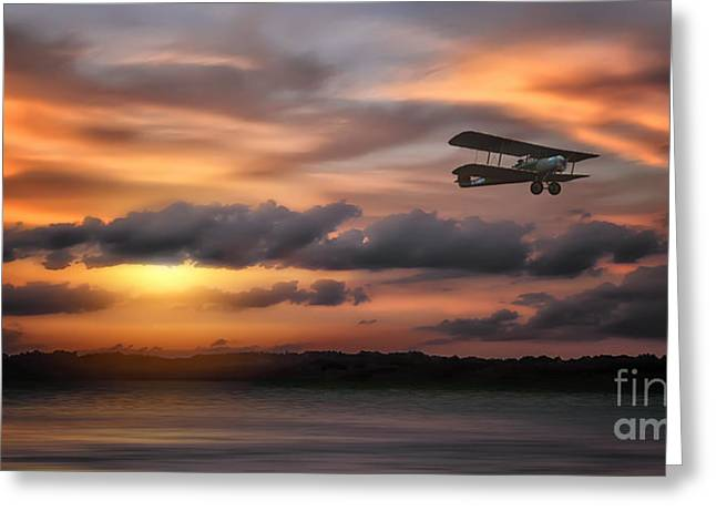 Aviation Photography Greeting Cards - Through The Time Zone Greeting Card by Tom York Images