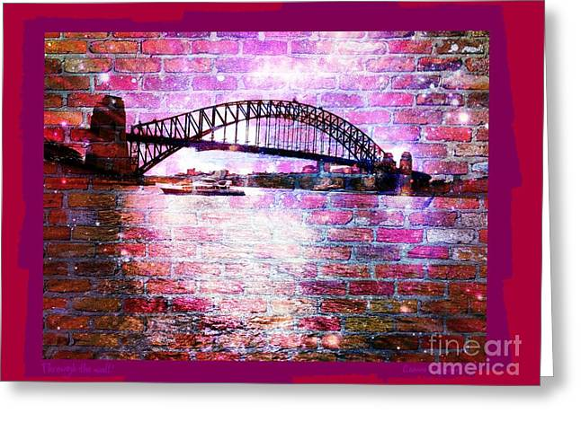 Through The Wall 2 Greeting Card by Leanne Seymour
