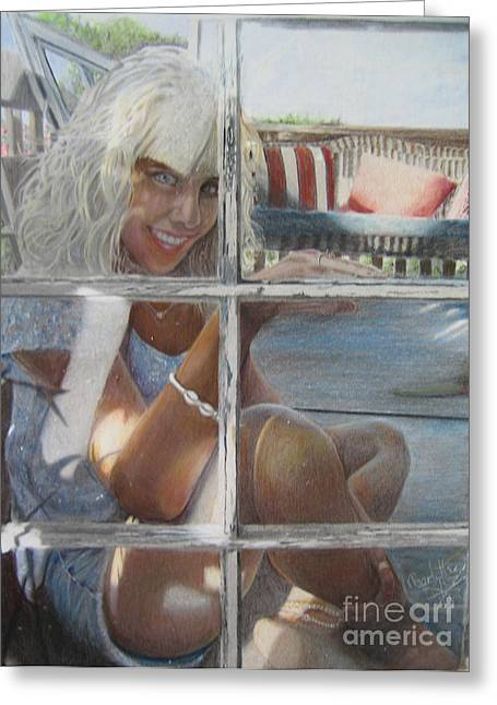 Your Choice Greeting Cards - Through The Window Greeting Card by Charlotte Hastings