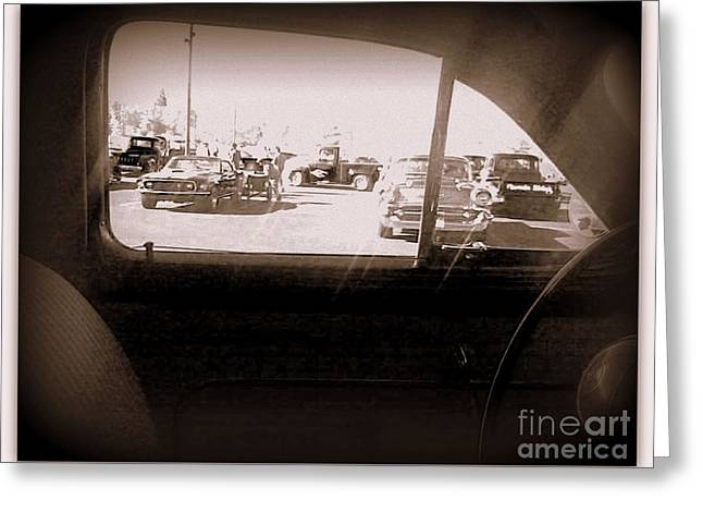 49 Chevy Greeting Cards - Through the Window of Time Greeting Card by Bobbee Rickard