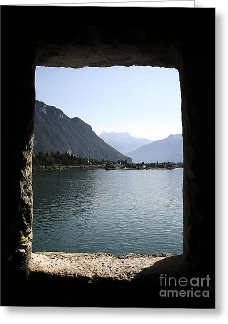 Chillon Greeting Cards - Through the windows Greeting Card by Ivy Ho