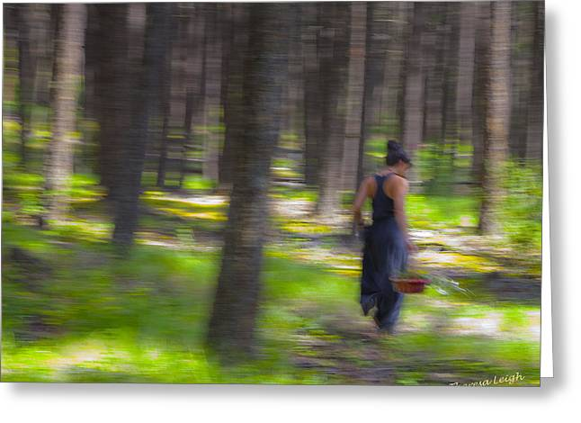 Dappled Sunlight Greeting Cards - Through The Woods 2 Greeting Card by Theresa Tahara