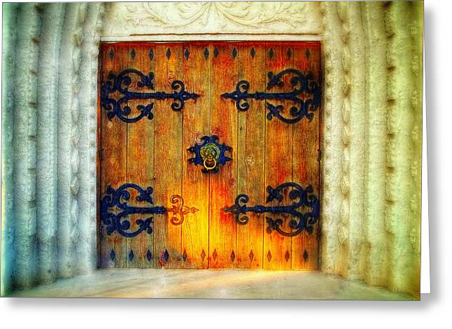 Through These Doors Greeting Card by Glenn McCarthy