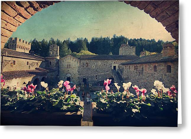 Calistoga Digital Art Greeting Cards - Through Time Greeting Card by Laurie Search
