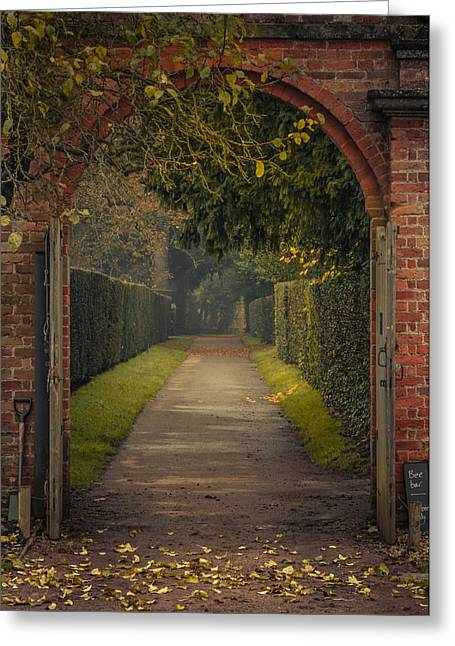 Spade Greeting Cards - Through to the autumn gardens Greeting Card by Chris Fletcher