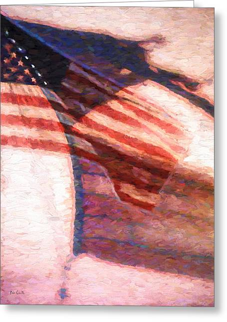 Veterans Memorial Paintings Greeting Cards - Through War and Peace Greeting Card by Bob Orsillo
