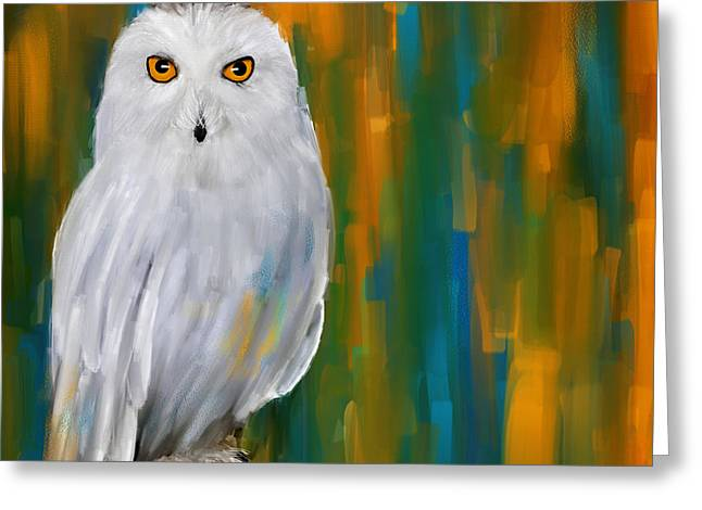 Snowy White Owl Greeting Cards - Through Your Eyes Greeting Card by Lourry Legarde