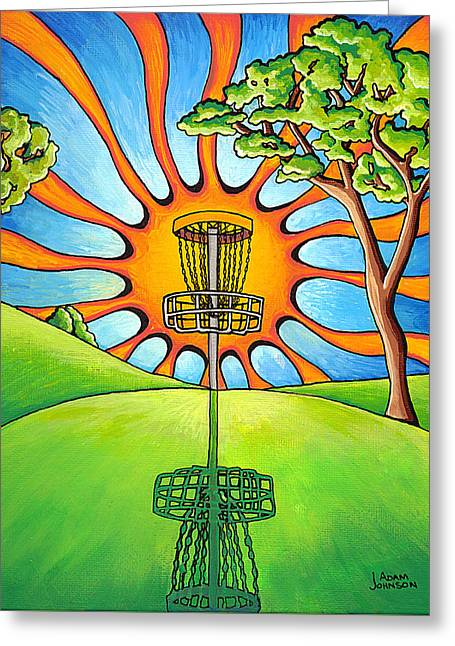 Basket Ball Game Greeting Cards - Throw Into The Light Greeting Card by Adam Johnson