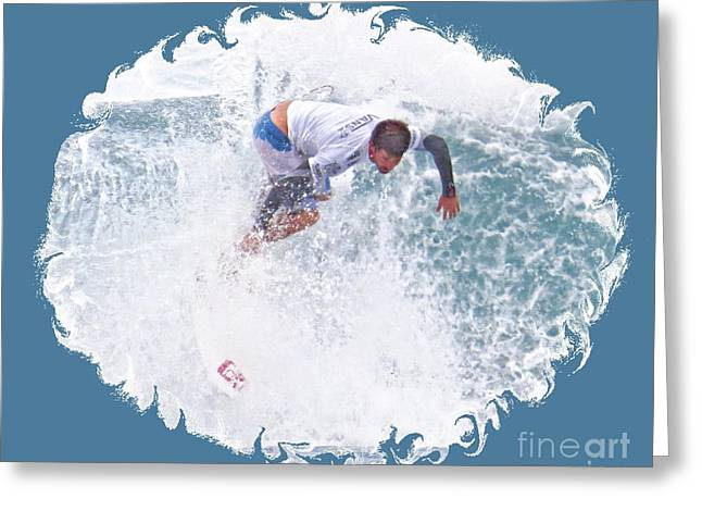 Surfing Photos Greeting Cards - Thru the Whitewater Greeting Card by Scott Cameron