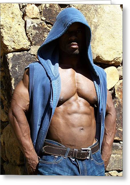 Stock Fitness Photos Greeting Cards - Thug Greeting Card by Jake Hartz