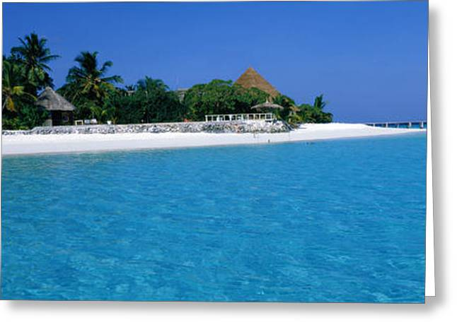 Panoramic Ocean Greeting Cards - Thulhagiri Island Resort Maldives Greeting Card by Panoramic Images