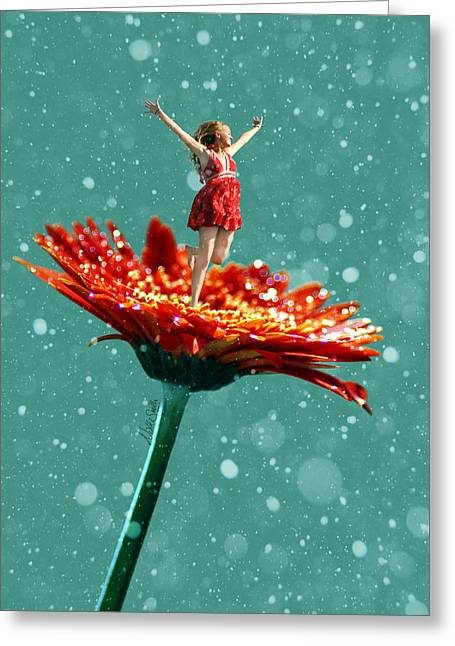 Yes Greeting Cards - Thumbelina All Grown Up Greeting Card by Nikki Marie Smith