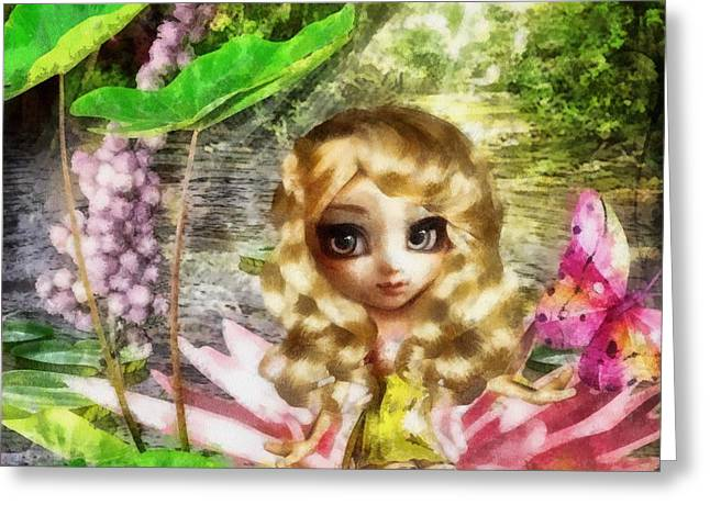 Thumbelina Greeting Card by Mo T