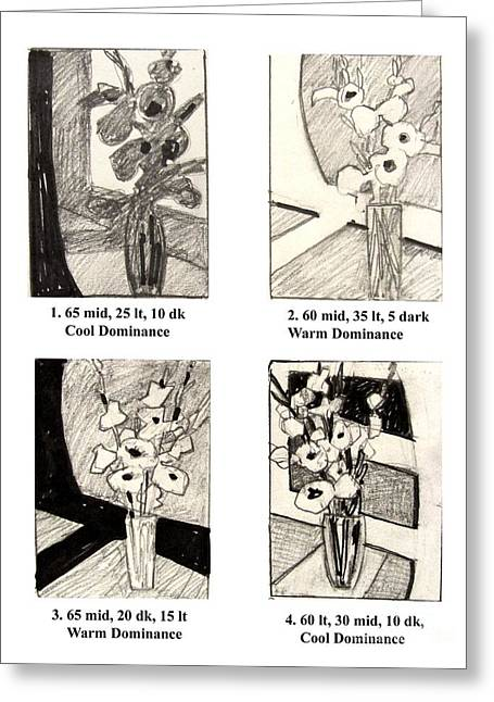 Experiment Drawings Greeting Cards - Thumbnails Greeting Card by Wendy Westlake