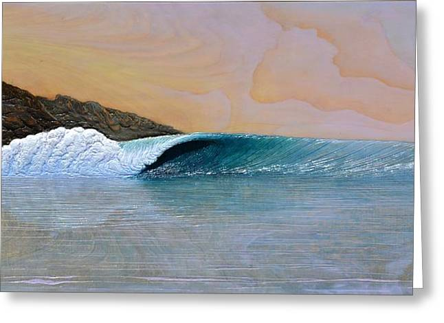 Surfing Art Greeting Cards - Thunder at the Break of Dawn Greeting Card by Nathan Ledyard