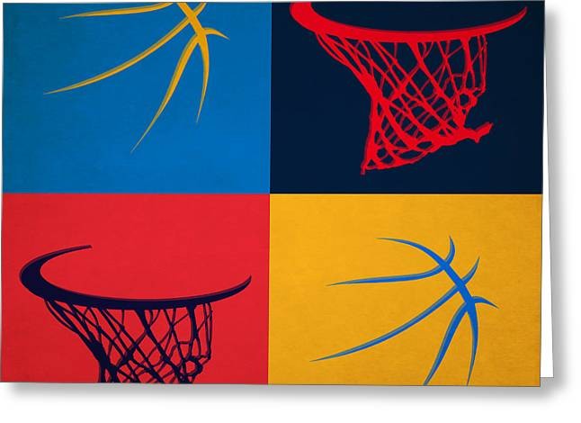 3 Pointer Greeting Cards - Thunder Ball And Hoop Greeting Card by Joe Hamilton