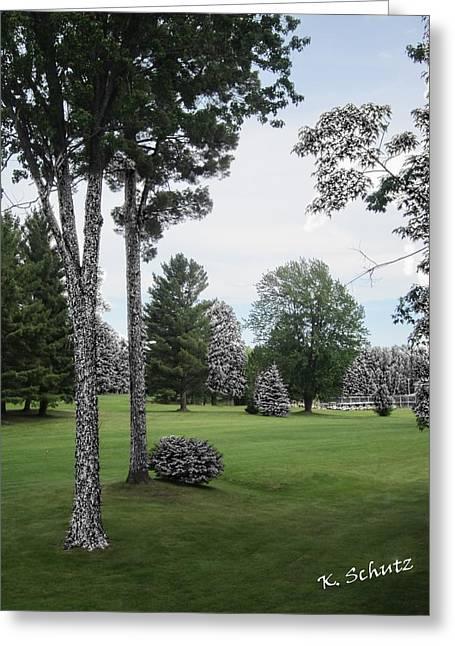 Hillman Greeting Cards - Thunder Bay Golf Resort Greeting Card by Kelly Schutz