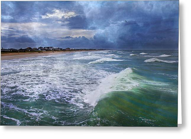 Topsail Island Greeting Cards - Thunder Greeting Card by Betsy C  Knapp