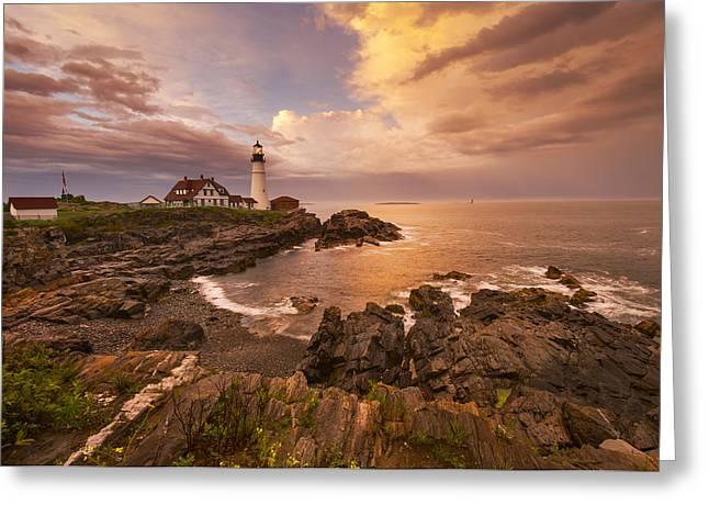 Maine Coast Greeting Cards - Thunder Cove Greeting Card by Joseph Rossbach