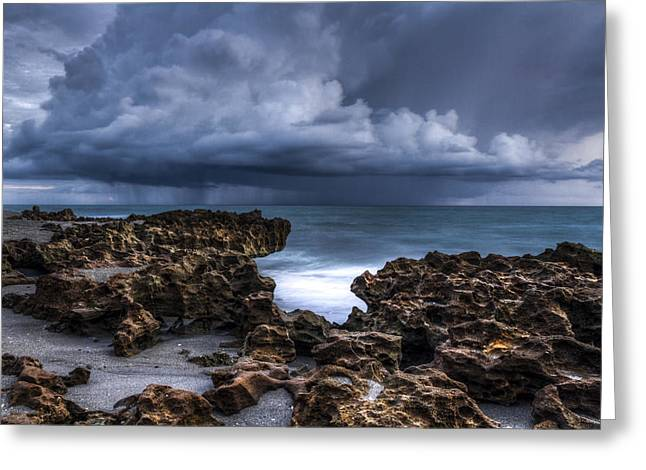 Summer Storm Greeting Cards - Thunder Dawn Greeting Card by Debra and Dave Vanderlaan