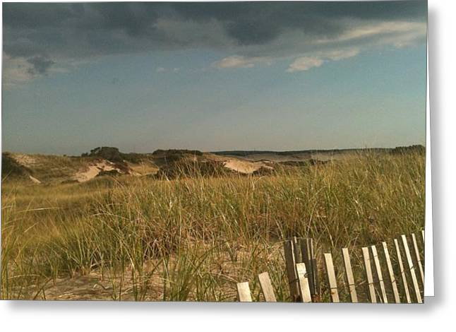 Thunder Dunes Greeting Card by Tricia Nilsson