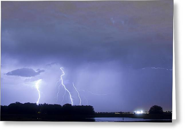 Photography Lightning Greeting Cards - Thunder Rolls And The Lightnin Strikes  Greeting Card by James BO  Insogna