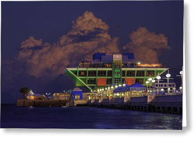 Thunder Cloud Greeting Cards - Thunder Storm at the Pier Greeting Card by Marvin Spates
