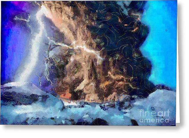 Storm Framed Prints Digital Art Greeting Cards - Thunder Struck Greeting Card by Catherine Lott