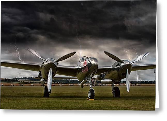 P-38 Greeting Cards - Thunder Struck Greeting Card by Peter Chilelli