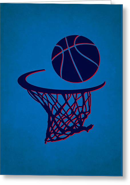 Oklahoma City Thunder Greeting Cards - Thunder Team Hoop2 Greeting Card by Joe Hamilton