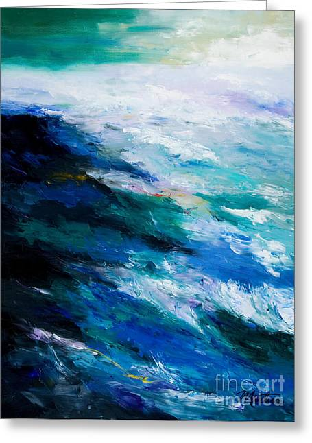 Rough Paintings Greeting Cards - Thunder Tide Greeting Card by Larry Martin