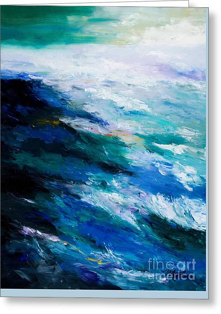 North Sea Greeting Cards - Thunder Tide Greeting Card by Larry Martin