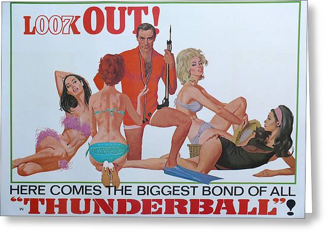 Female Spy Greeting Cards - Thunderball Greeting Card by Nomad Art And  Design