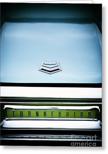 Blue Ford Greeting Cards - Thunderbird Abstract Greeting Card by Tim Gainey