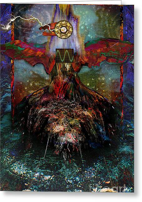 Visionary ist Mixed Media Greeting Cards - Thunderbird of Reconciliation Greeting Card by Alyssa Hinton