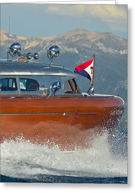 Maritime Classics Greeting Cards - Thunderbird Up Close Greeting Card by Steven Lapkin