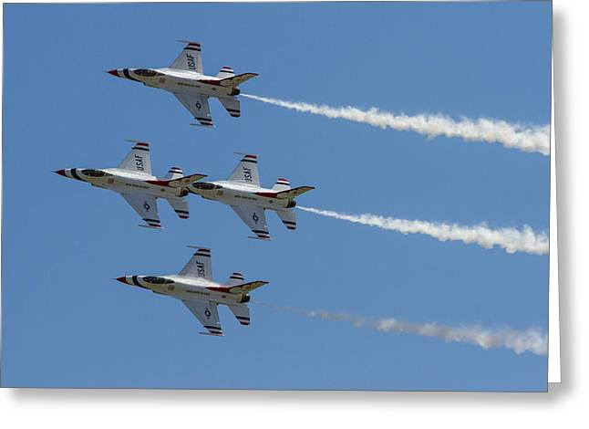 Military Airplanes Greeting Cards - Thunderbirds II Greeting Card by Bill Gallagher