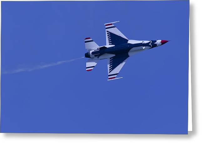 Oc Greeting Cards - Thunderbirds Solo Underside Greeting Card by Donna Corless
