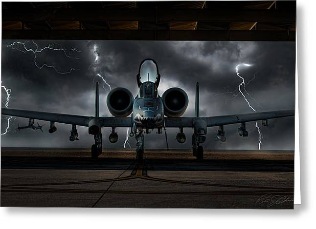 Thunderbolt And Lightning Greeting Card by Peter Chilelli