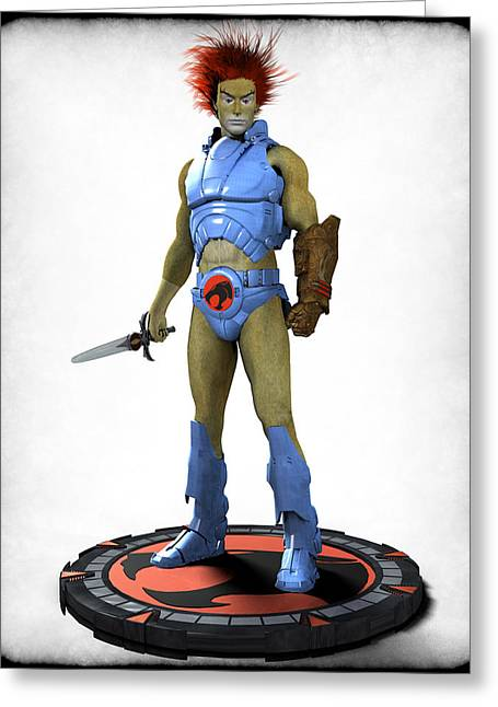 Frederico Borges Digital Greeting Cards - Thundercats 3000 - Lion-O v1 Greeting Card by Frederico Borges