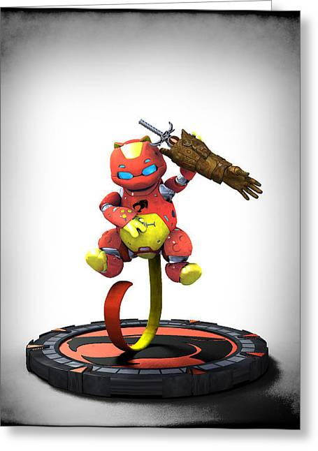Frederico Borges Greeting Cards - Thundercats 3000 - Snarf 2.0 Greeting Card by Frederico Borges