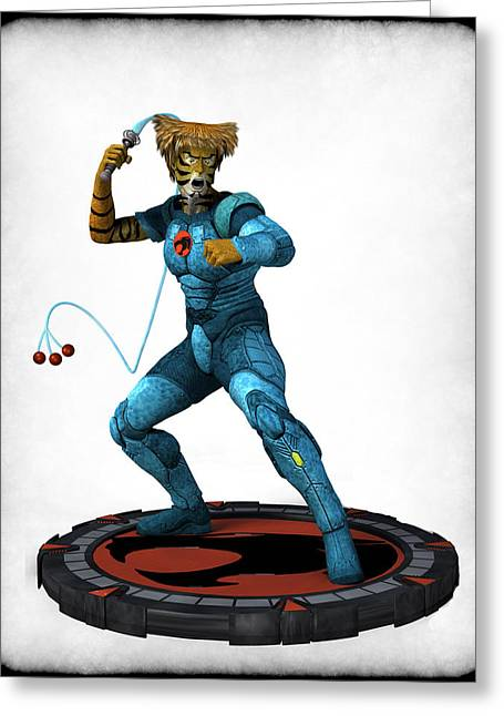 Frederico Borges Digital Greeting Cards - Thundercats 3000 - Tygra v2 Greeting Card by Frederico Borges