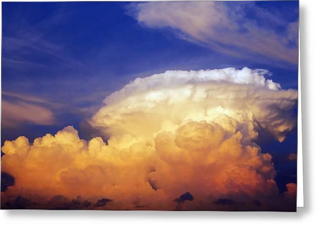 Summer Storm Greeting Cards - Thunderhead Greeting Card by Skip Nall
